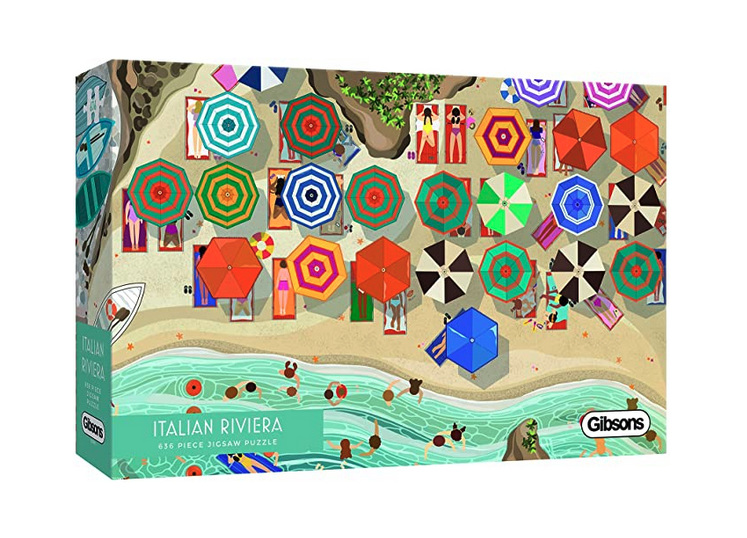 Gibsons 636 piece jigsaw puzzle Italian Riviera  buy at www.puzzlesnz.co.nz
