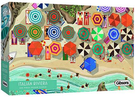 Gibsons 636 Piece Panorama Jigsaw Puzzle: Italian Riviera