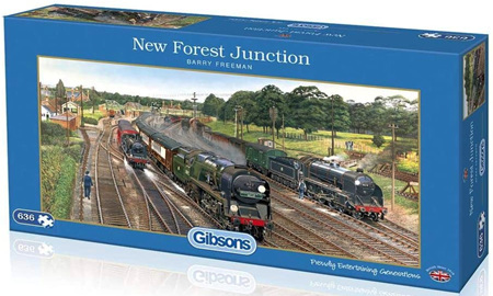 Gibsons 636 Piece Panorama Jigsaw Puzzle: New Forest Junction