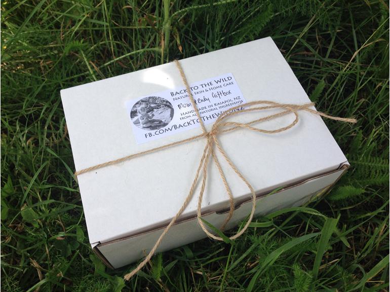gift box wrapping natural