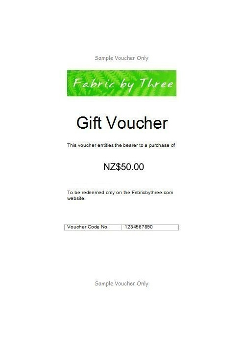 Gift Voucher $50 - Courier Delivery