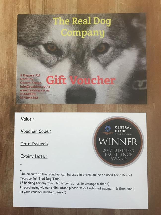 Gift Voucher - Equipment ONLY