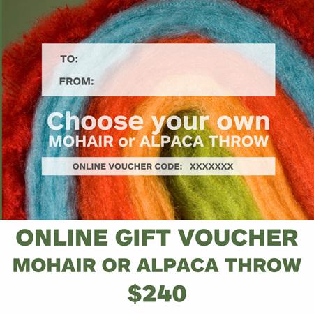 Gift Voucher - Mohair/Alpaca Throw