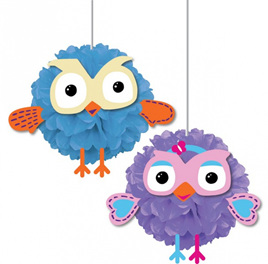Giggle & Hoot fluffy decorations