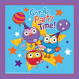 Giggle & Hoot lunch napkins x 16