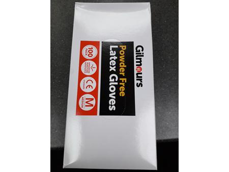 Gilmours Latex Gloves Medium Box 100