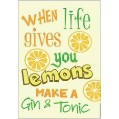 Gin & Tonic Fridge Magnet