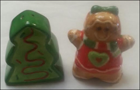 Gingerbread & tree salt & pepper