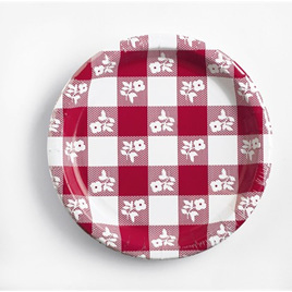 Gingham Red & White Party Range