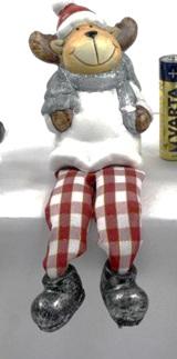 Gingham Shelf sitting Reindeer