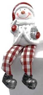 Gingham Shelf sitting Snowman