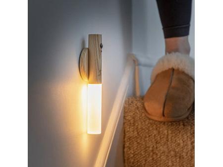 Gingko Baton LED Light White Ash Wood