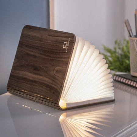 Gingko Large Smart LED Book Light - Walnut