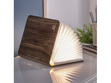 Gingko Large Smart LED Book Light - Walnut