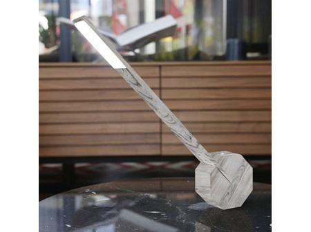 Gingko Octagon One Portable Desk Light Ash