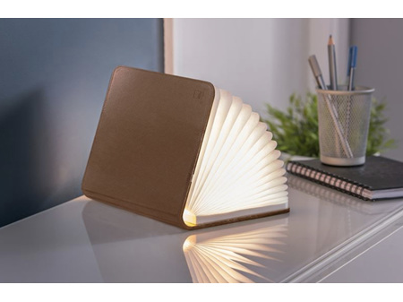 Gingko Smart LED Booklight Large Brown Leather