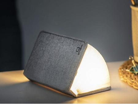 Gingko Smart LED Booklight Linen Fabric Urban Grey