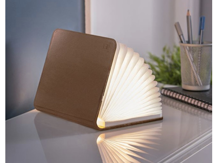 Gingko Smart LED Booklight Mini Brown Leather