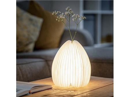 Gingko Smart Vase LED Light American Walnut