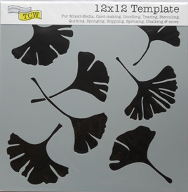 Ginkgo Leaves 12 x 12
