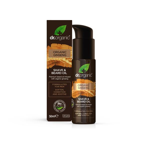 Ginseng - Mens Shave & Beard Oil 50ml - dr. organic