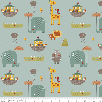 Giraffe Crossing - Main Teal