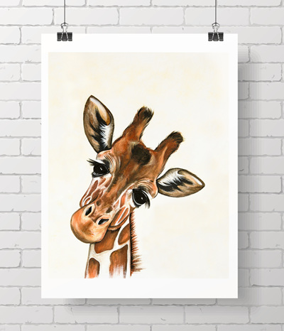 giraffe no flowers