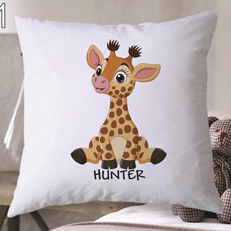 Giraffe Personalised Cushion Cover