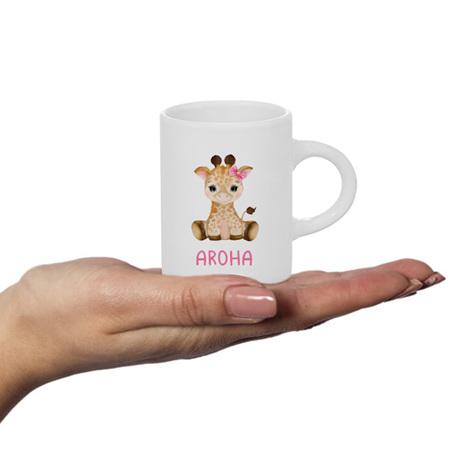 Giraffe with Bow Personalised Fluffy Mug