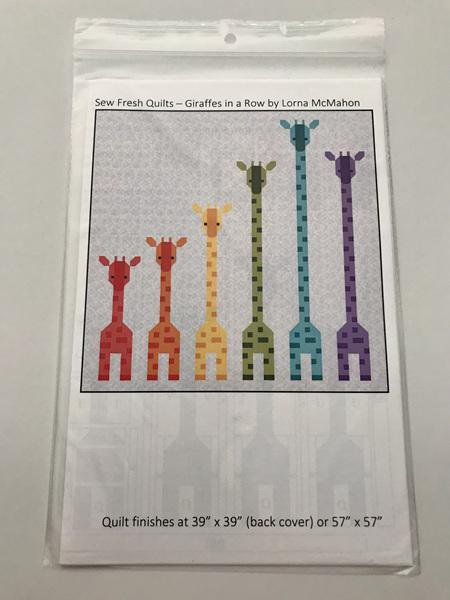 Giraffes in a Row Quilt Pattern