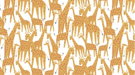 Giraffes White 1217
