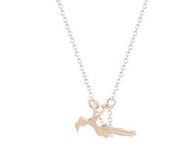 Girl on Swing Necklace - Golden Girl