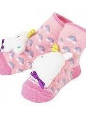 Girl Unicorn Rattle Socks