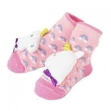 Girl Unicorn Rattle Socks