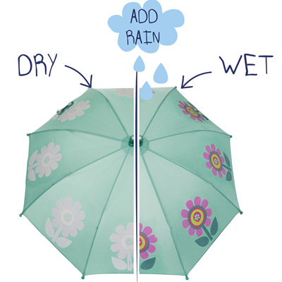 Girls Colour Changing Flower Umbrella