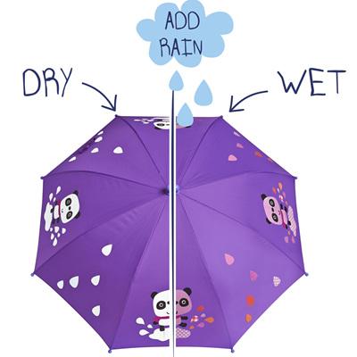 Girls Colour Changing Panda Umbrella