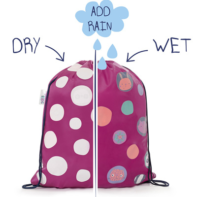 Girls Colour Changing Polka Dot Bag