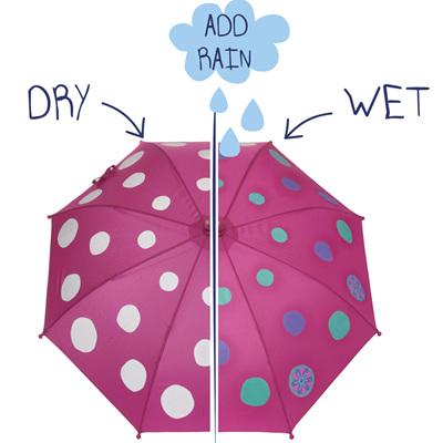 Girls Colour Changing Polka Dot Umbrella