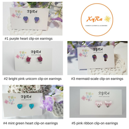 Girls Earrings and Clip-on Earrings