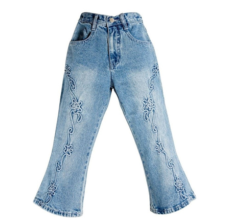 Girls Embroidery Jeans Size 8