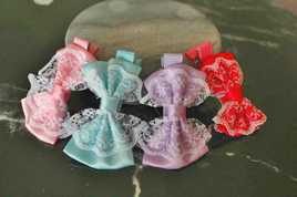 Girls HairClips with Lace (single)
