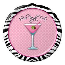 Girls Night Out Party Plates