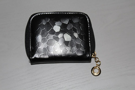 Glam Short Wallet - BLACK