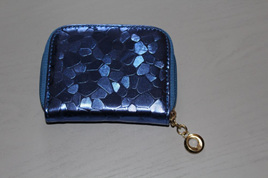 Glam Short Wallet - BLUE