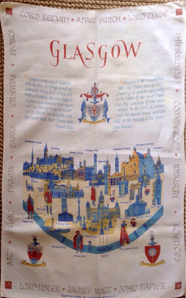 Glasgow Souvenir Tea Towel
