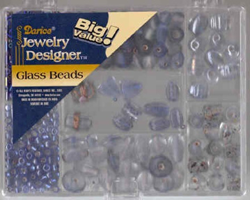Glass Bead Pack - Blue & Light Blue  (DR1969.43)