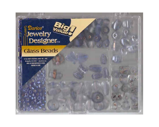 Glass Bead Pack - Blue & Light Blue  (DR1969.43)
