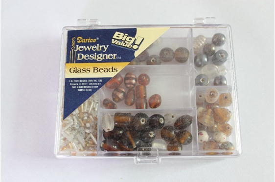 Glass Bead Pack - Brown/Gold  (DR1969.48)
