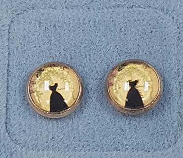 Glass Dome Earring  - Little Black Dress