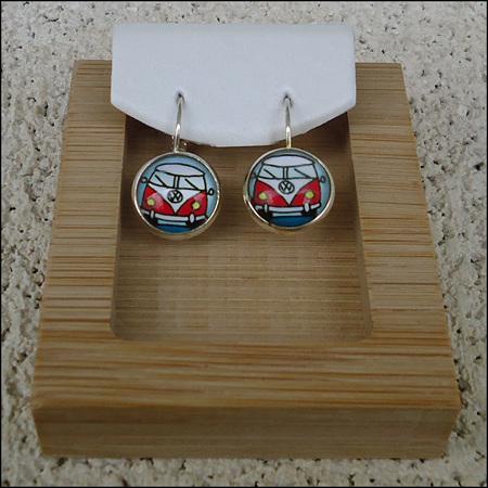 Glass Dome Earrings